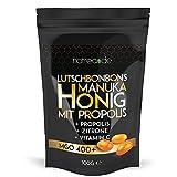 Natrea Manuka Honig Bonbons 400 MGO  mit Zitronengeschmack und Propolis | 100 g im wiederverschließbaren ZIP Beutel